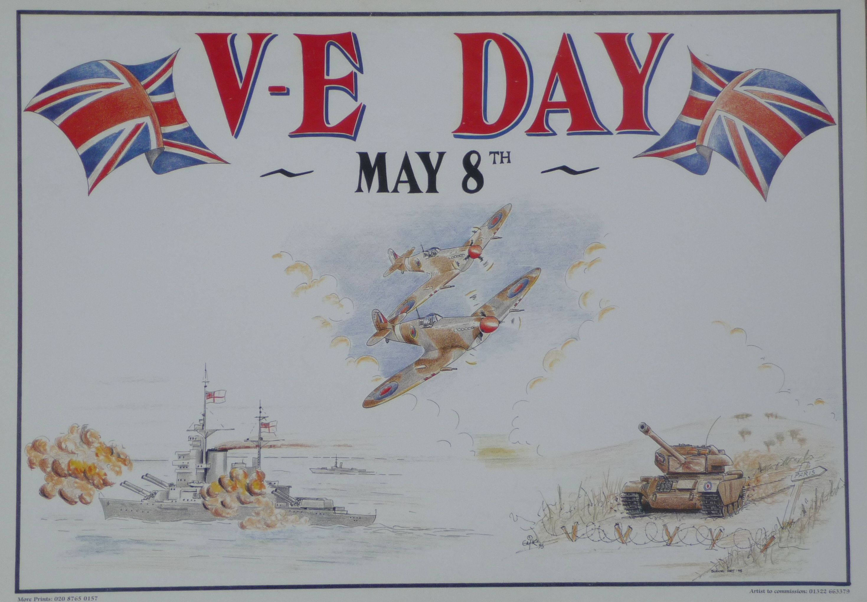 Poster For V E Day Wwii History E Day History
