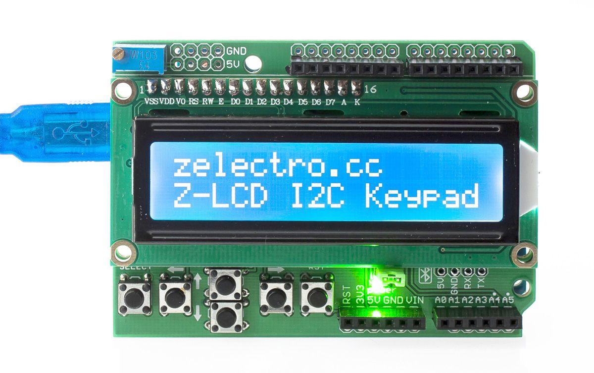 Zelectro LCD I2C Keypad на микросхеме PCF8574T с возможность выбора