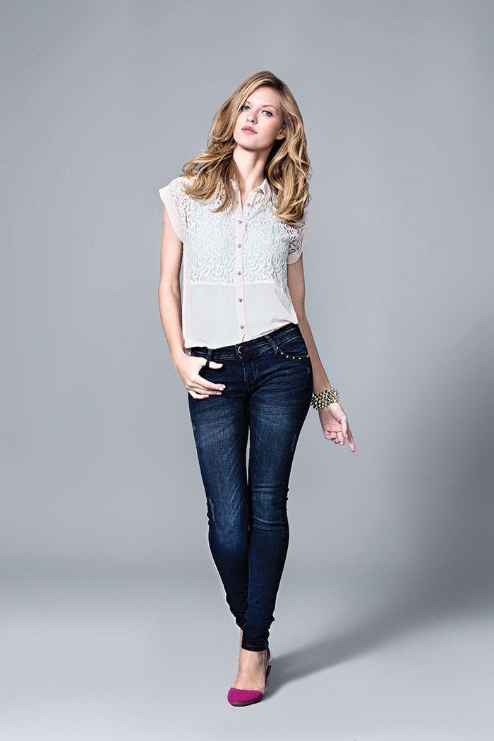 look básico opção jeans