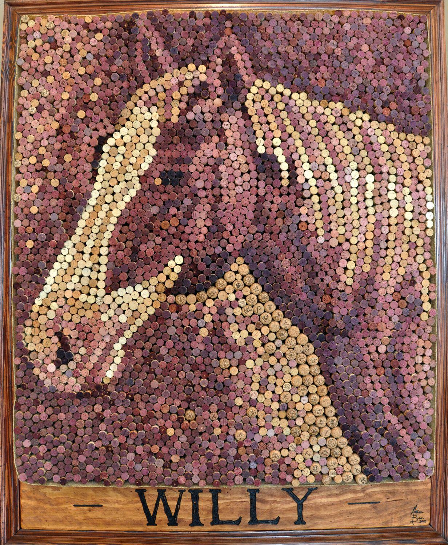 "Wine Cork Art: Customized Wine Cork Art, 36""x48"". $1,500.00, Via Etsy"