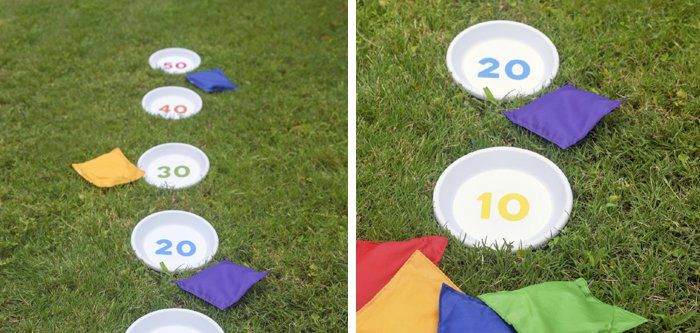 Outdoor Games Diy Bean Bag Toss Pinterest Juego Platos Y Para
