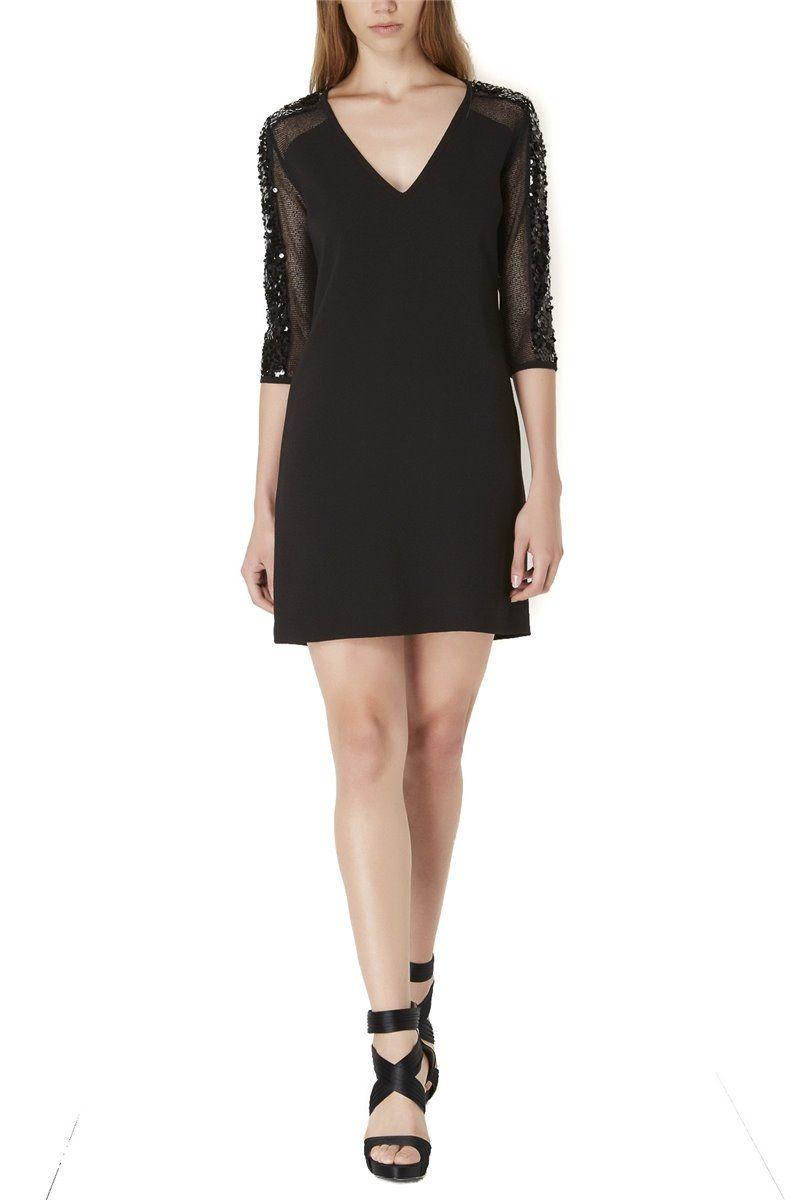 Almagores , Black Dress, Sequined Sleeves, Art 541AL10010