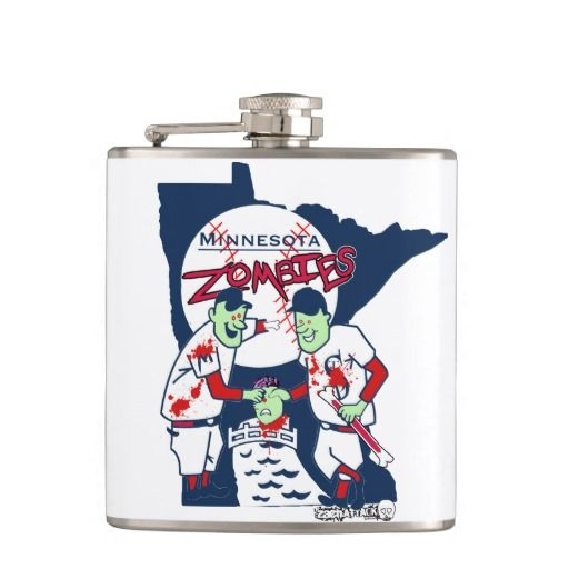 ZachAttack design's MN Zombies Flask