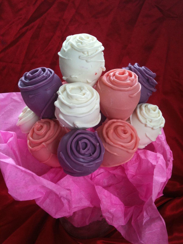 Cake pop roses form a delicious bouquet cake pop rose and cake cake pop roses form a delicious bouquet foodista izmirmasajfo