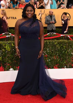 Danielle Brooks In Christian Siriano At The 2015 Sag Awards Red