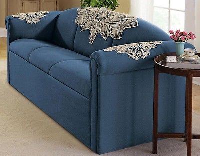 Elegant Crocheted Lace Ecru Colored Sofa Doilies (3-Pc Set) 37