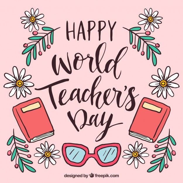 Download Happy Teacher S Day Hand Drawn For Free Happy Teachers Day Card Teachers Day Card Design Teachers Day Card