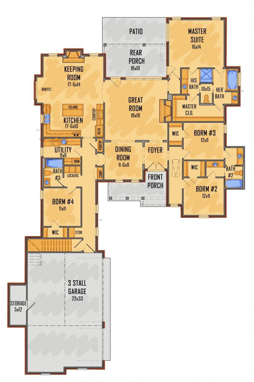 657406 Idg5312a Floor Plans House Plans House Blueprints