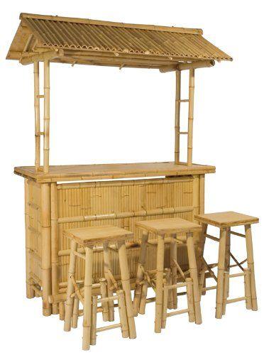 4tlg bar rivas bambus theke tresen barhocker outdoor salelase. Black Bedroom Furniture Sets. Home Design Ideas