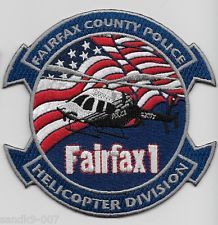 Fairfax County Police Helicopter Div Virginia Shoulder Patch Police Patches Patches Army Patches