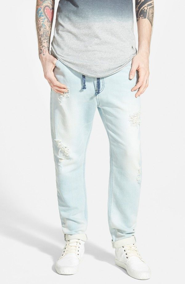 Five Pocket Denim Jogger Pants