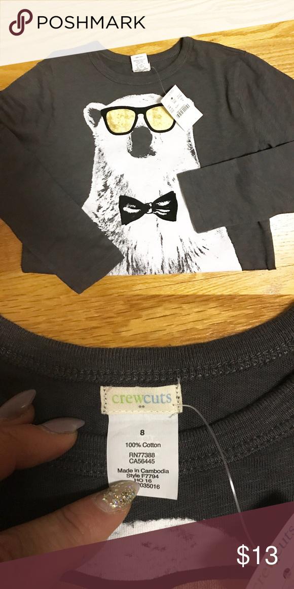 Size 8 crew Cuts long sleeve. NWT J. Crew Shirts & Tops Tees - Long Sleeve