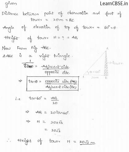 RD Sharma Class 10 Solutions Chapter 12 Applications Of