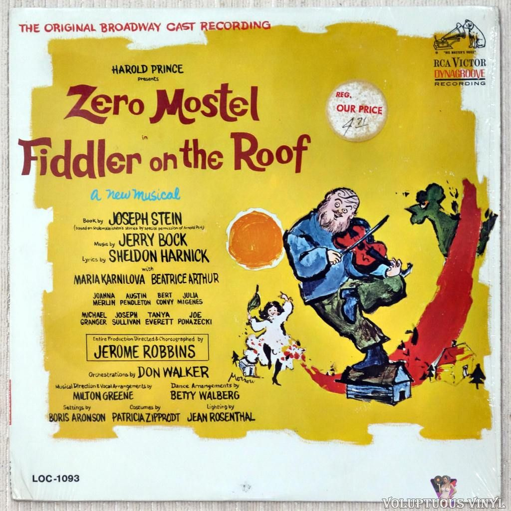 Various Fiddler On The Roof The Original Broadway Cast Recording In 2020 Fiddler On The Roof The Originals It Cast