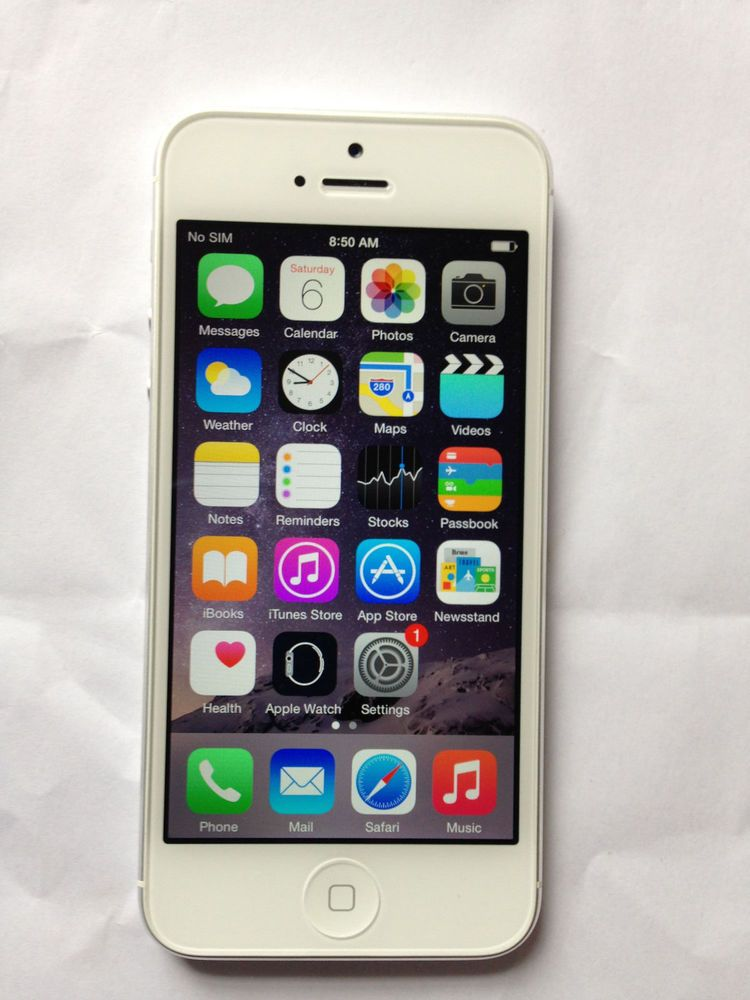Apple iphone 516gb white silver factory unlocked