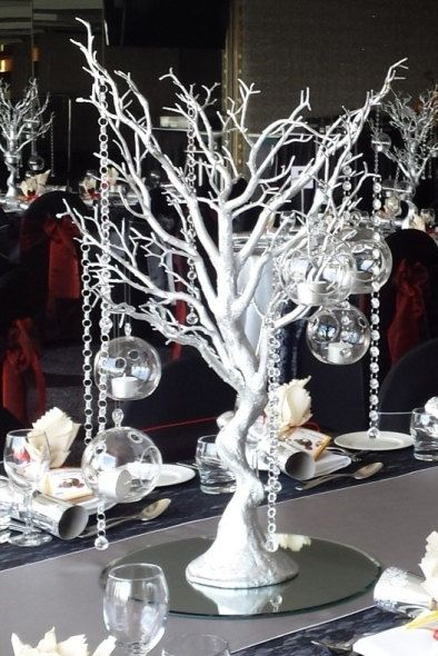 wedding centerpiece manzanita tree branches gold by bukkyashaye rh pinterest com centerpiece ideas using tree branches christmas centerpiece with tree branches