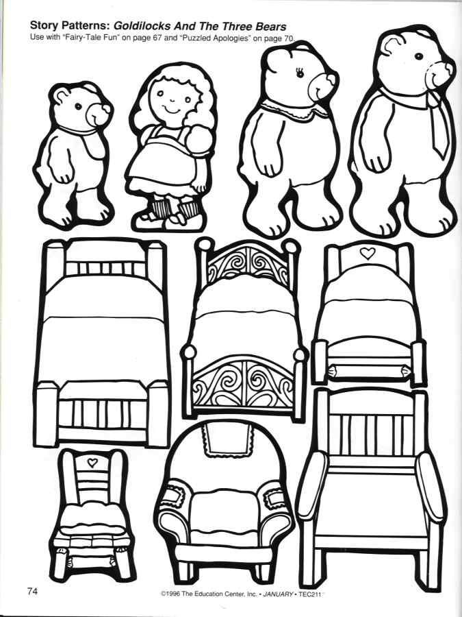 read goldilocks and the three bears and then print out some coloring activities - Print Out Activities