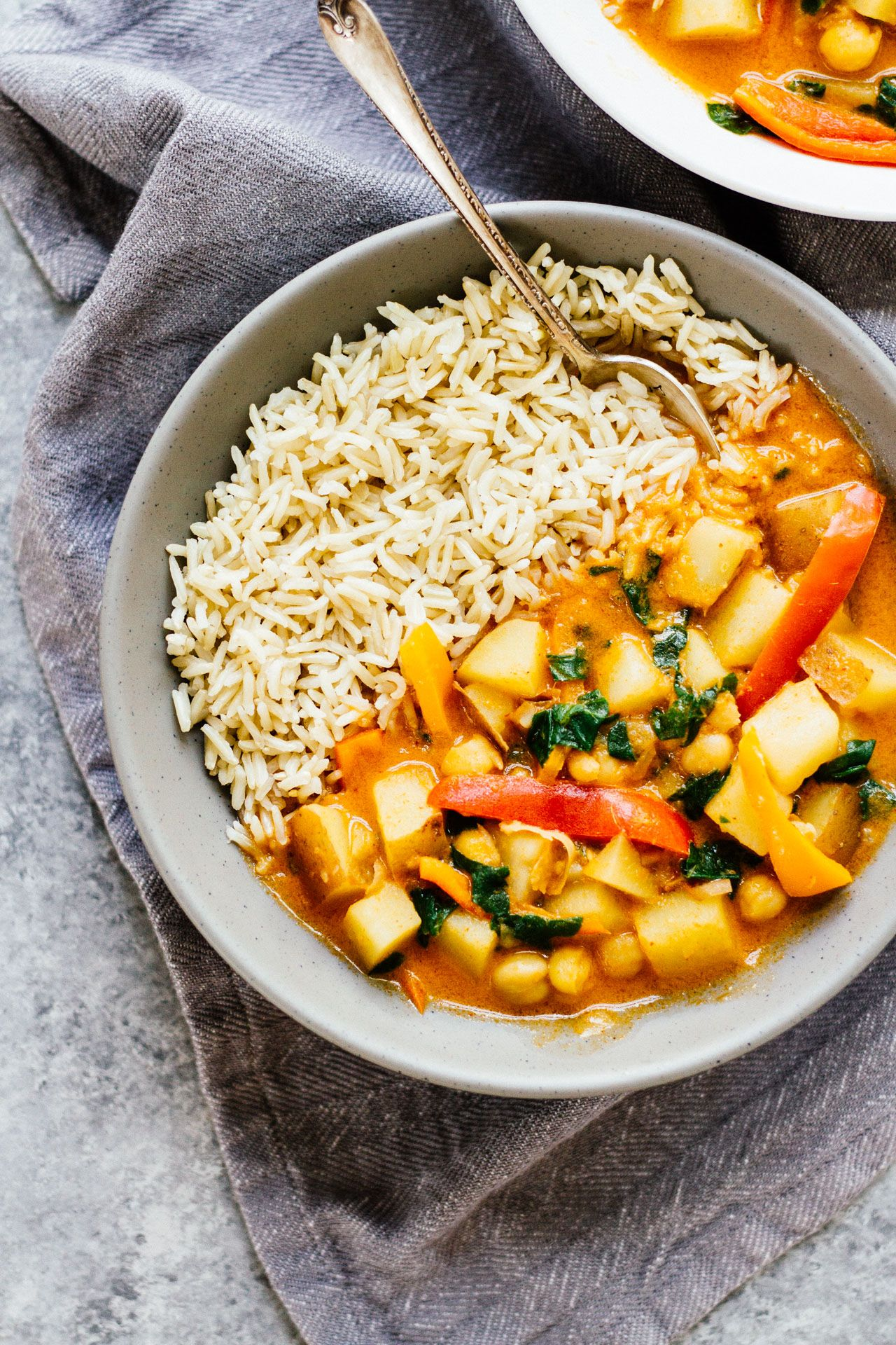Easy Spicy Vegan Potato Curry