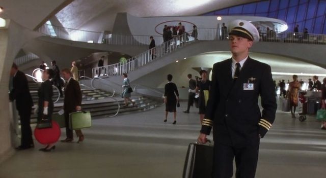 Film Locations: Leonardo DiCaprio at JFK Airport's TWA