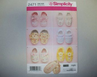 New Simplicity Baby Shoes Pattern, 2471