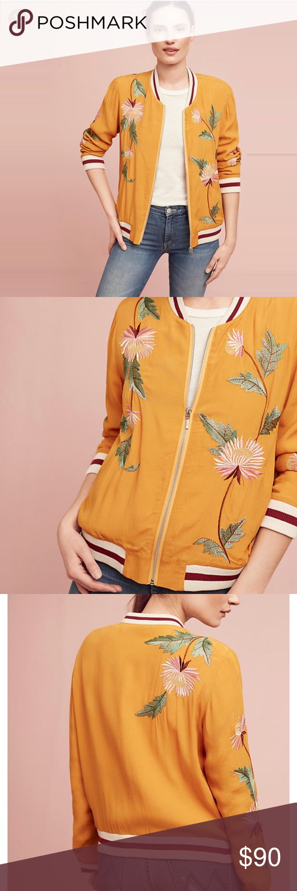 b00e37f5b Anthropologie Embroidered Solstice Bomber Jacket Anthropologie ...