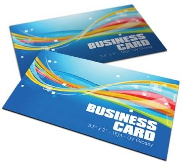 Full color premium business cards 16pt, Matte and UV.