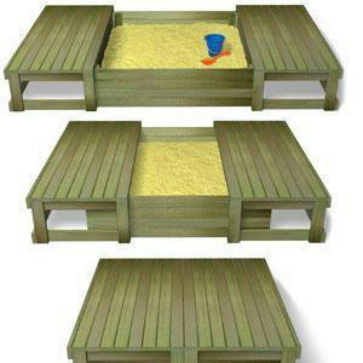 Arenero pallets pinterest juego juguetes y infantiles - Areneros para ninos ...