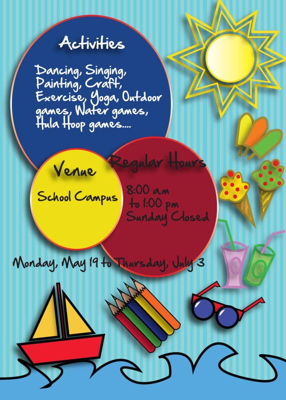 Free Kids Summer Camp Flyer Psd Template Summer Camps For Kids