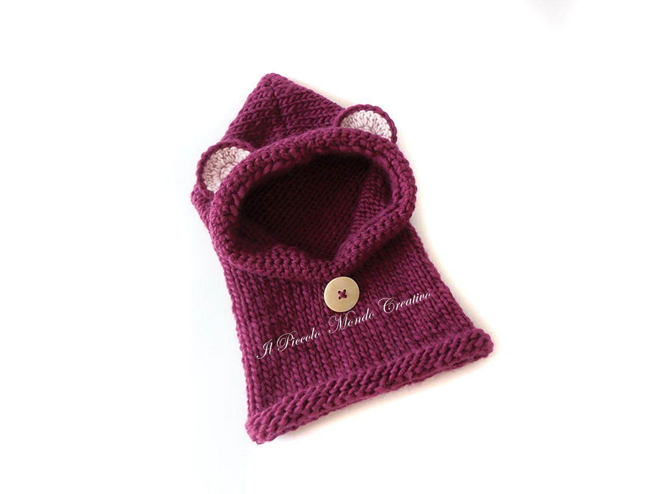 vendita professionale brillantezza del colore colore attraente Cappuccio per bambini a forma di orsetto, Cappuccio con ...