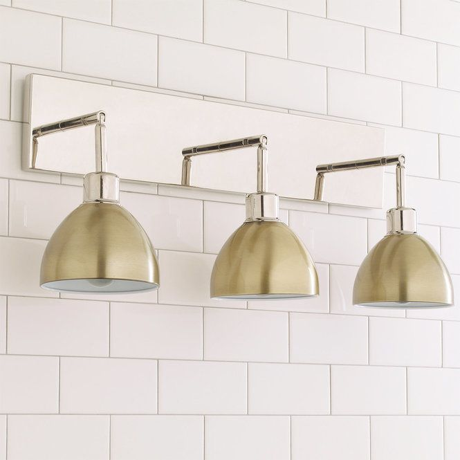 This Young House Love super functional Dapper Bath Light has 3 adjustable arms which can be & Young House Love Dapper Bath Light 3-Light | Bath light Bathroom ...