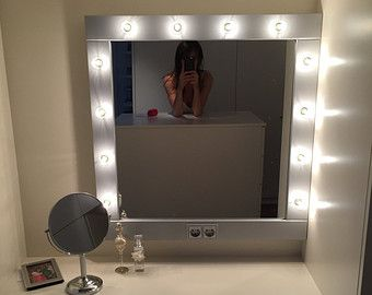professional vanity mirror with lights. Makeup Mirror With Lights  Vanity Hollywood Wall Hanging Or Self Standing Miroire Maquilleuse Andmade To Order