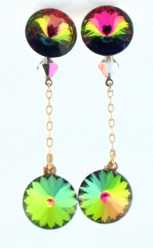 Watermelon Rivoli Earrings - Vendome