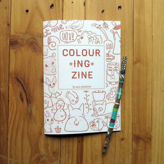 Colouring Zine Colouring Book 24 Pages Caballeria