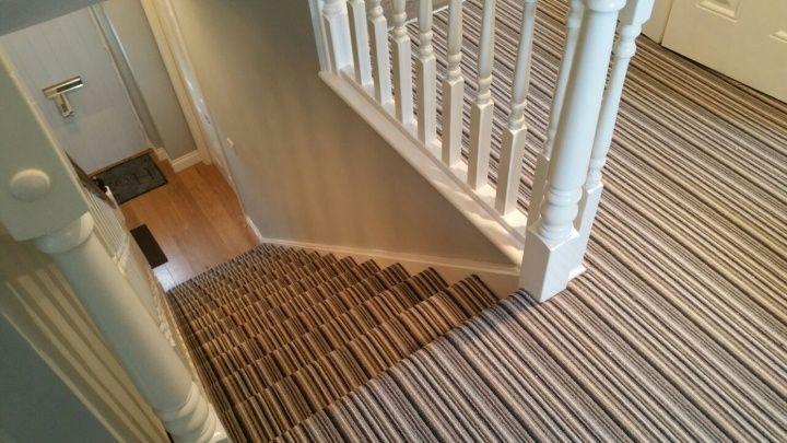 Best Stripy Striped Stair Carpet And Landing In Preston 400 x 300