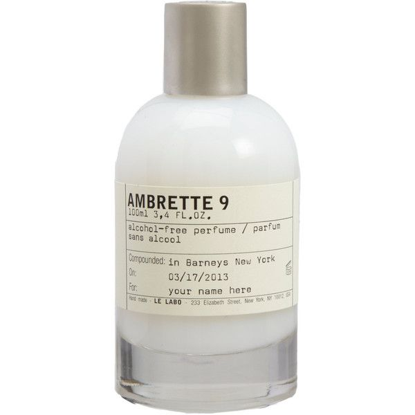 Le Labo Ambrette 9 (960 BRL) ❤ liked on Polyvore featuring beauty products, fragrance, fillers, beauty, makeup, white, cosmetics, colorless, perfume fragrances and le labo fragrances