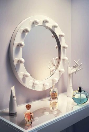 Perfect Ronde visagiespiegel make up spiegel met professionele dimbare LED lampen cm
