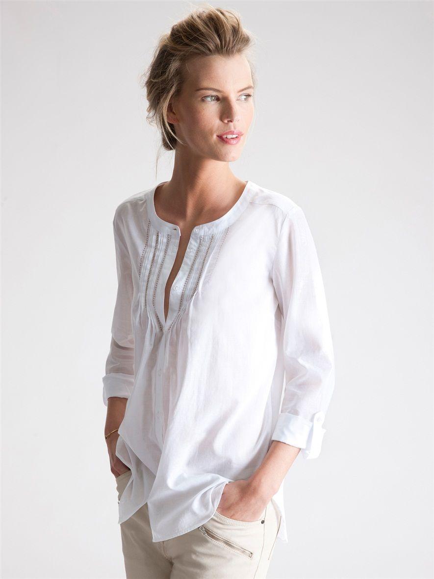 Vêtements Femme Mode Chemise Collection Esprit Bleu Ciel :