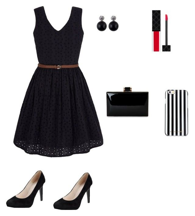 """""""Fab in black"""" by marymmgg on Polyvore featuring beauty, Yumi, Gucci and MICHAEL Michael Kors"""