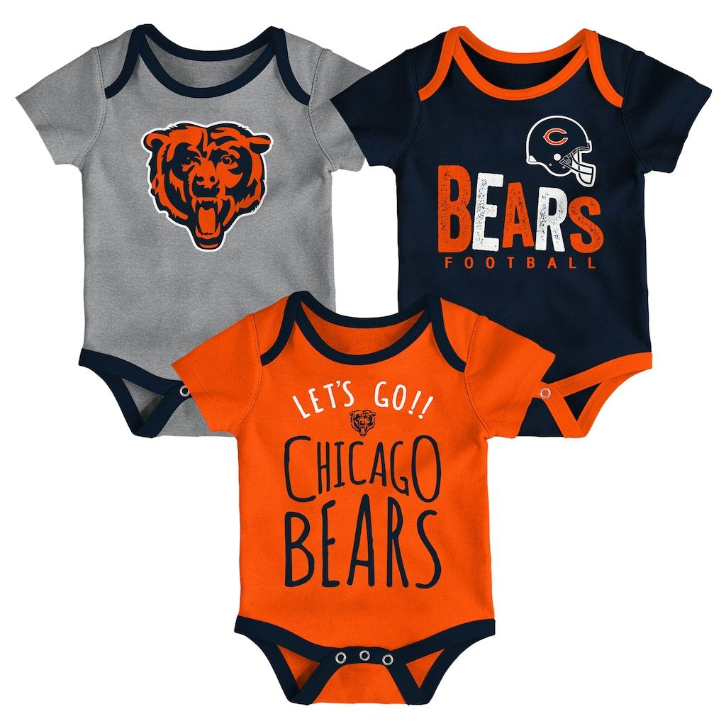 5f66db9b Baby Chicago Bears Little Tailgater Bodysuit Set, Blue (Navy ...
