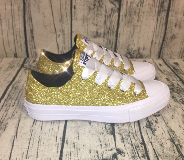Women's Converse All Stars Mono Pale Gold Champagne Lux Sneakers Shoes
