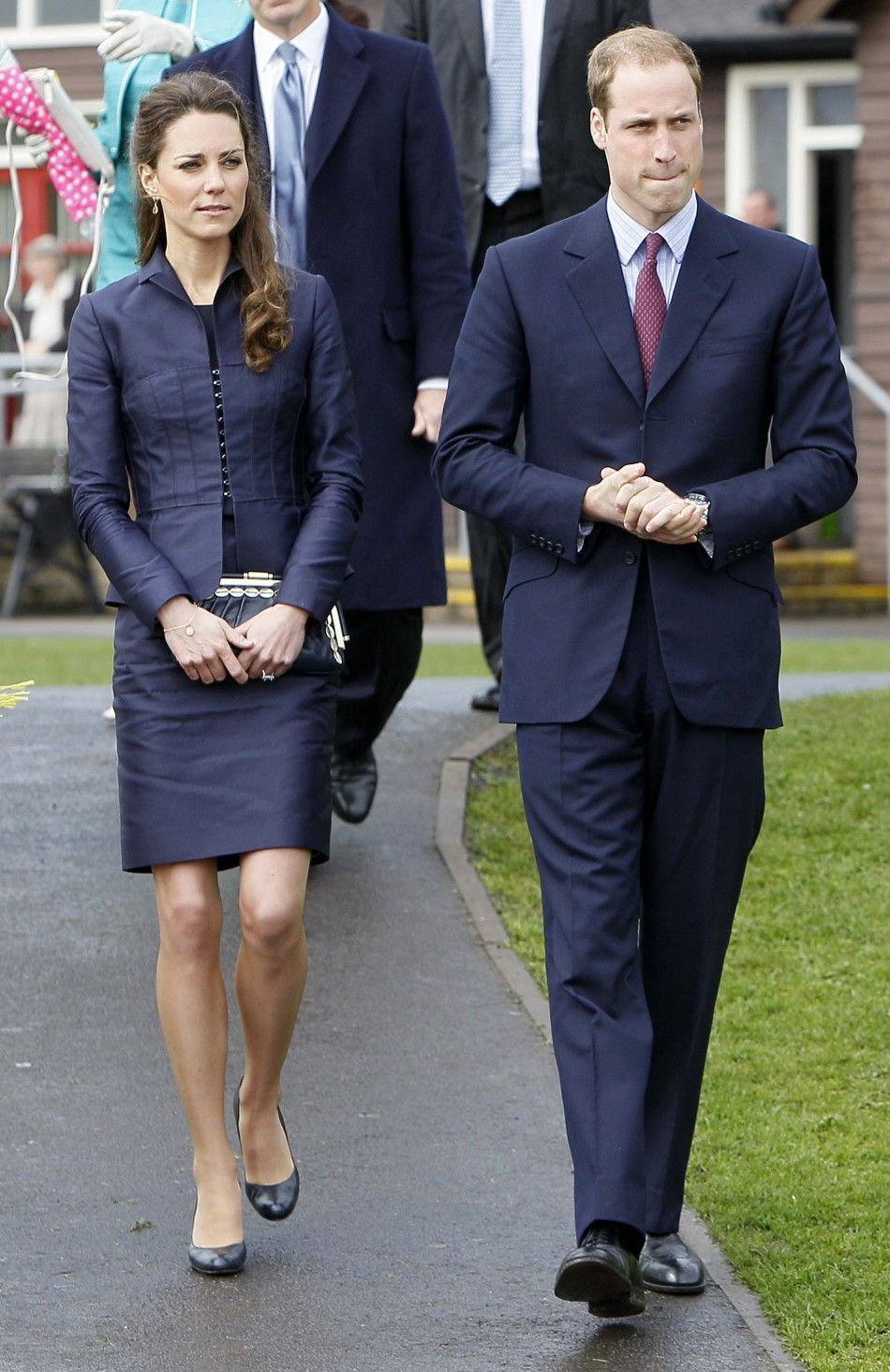 Navy Dress Suit Kate Middleton
