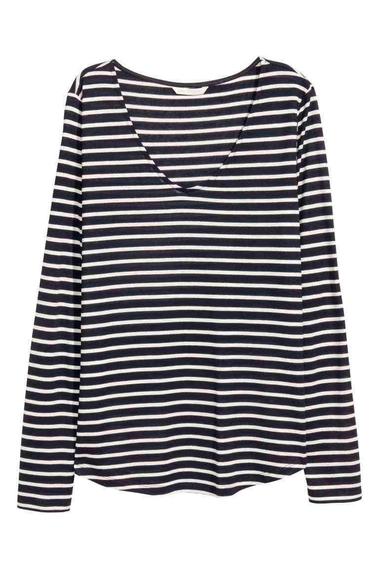 Jersey viscosa azul oscuro blanco puntos pequeños