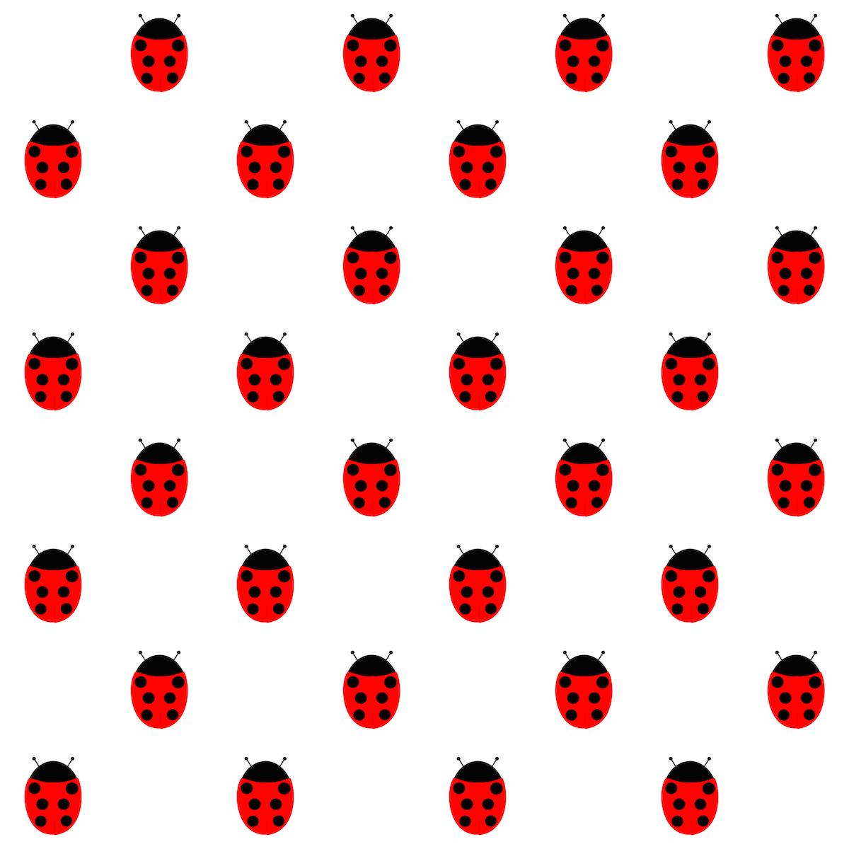 Free Digital Dotted Ladybug Scrapbooking Paper
