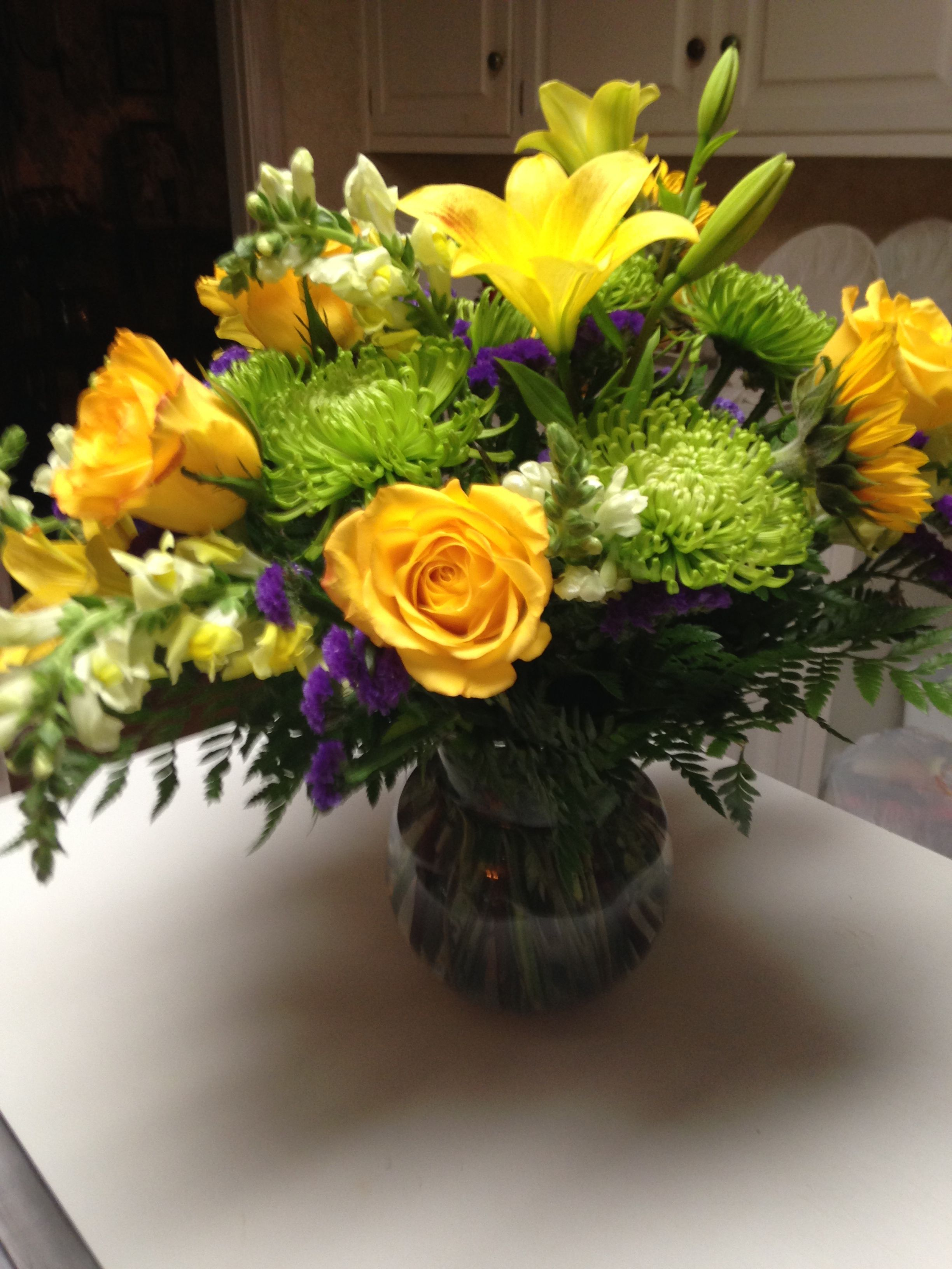 Beautiful flowers given to me for my birthday love
