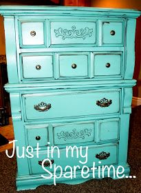 Just In My Spare Time: Refinished Turquoise Dresser