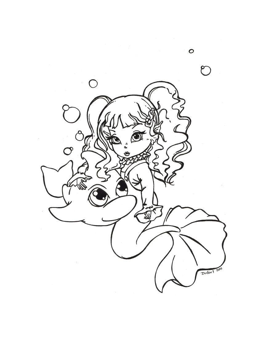 Mermaid Toddler And Her Pet By Jadedragonne Deviantart Com Mermaid Coloring Pages Cute Coloring Pages Mermaid Coloring [ 1115 x 900 Pixel ]