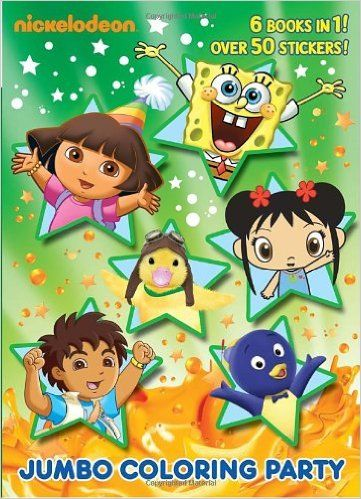 Jumbo Coloring Party (Nick Jr.) (Jumbo Coloring Book): Golden Books ...