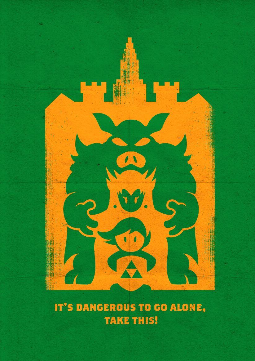 zelda link nintendo video games Super Mario retro gaming nes bowser ganon 8 bit