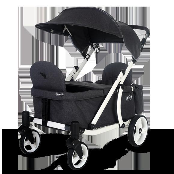 Pronto One Stroller Dark Grey with black frame Starter