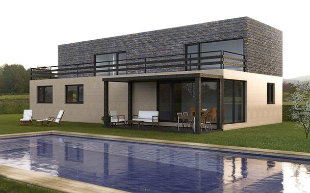 Casa prefabricada cube 250 m2 la casa modular cube m s - Cube casas prefabricadas ...